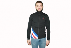 SWEAT ZIP TRICOLORE NOIR LCS